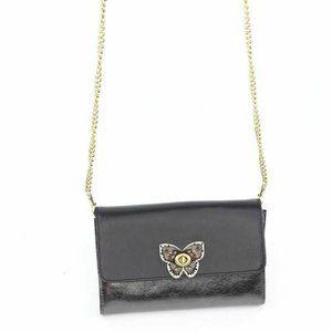 Coach Womens Crossbody Bag Gray Butterfly Turnlock